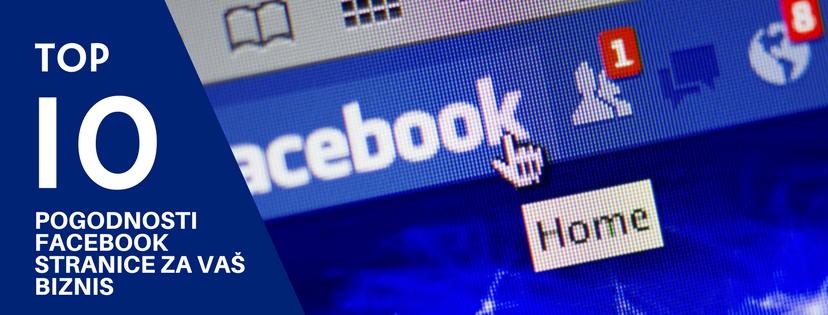 Pogodnosti Facebook Stranice